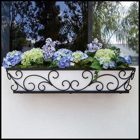 Composite Window Boxes - pretty regalia decora window boxes with composite pvc liners hooks amp lattice