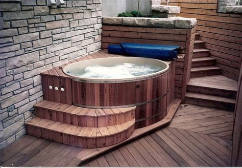 Small Spa Tub An Indoor Tub Our Small Oval And Cedar Tubs