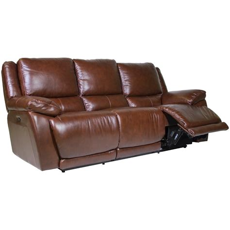 futura leather reclining futura leather curtis power reclining sofa homeworld