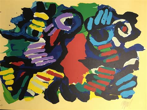 Apel Cople karel appel summer 1979 abstract signed