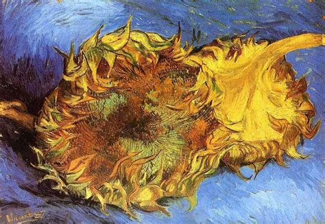 sketch tuesday summer art van gogh s bedroom harmony two cut sunflowers 1887 by vincent van gogh