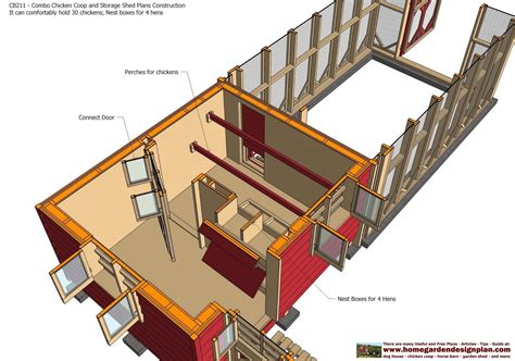 cb combo chicken coop garden shed plans chicken