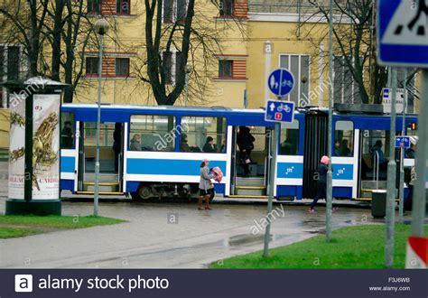 bus transport tallinn estonia europe stock  bus transport tallinn estonia europe stock