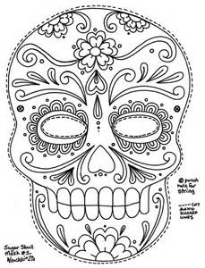 day of the dead skull template la calavera catrina coloring page coloring pages