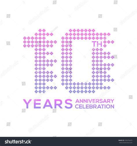 10 Year Anniversary Flower by 10 Years Anniversary Flower Colorful Logo Stock Vector