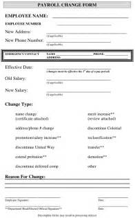 Payroll Change Form Template Free by Pay Increase Form Employer Form Templates Free