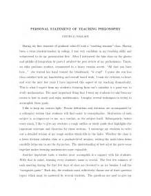 Personal Philosophy Essay by Personal Philosophy Essay