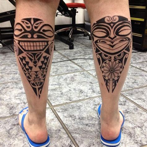 tribal tattoo calf waden tribal lilzeu de