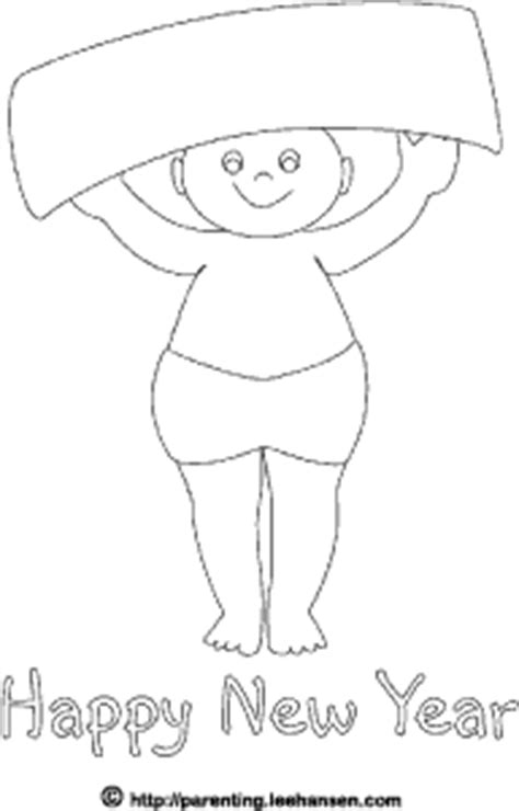 baby new year coloring pages new year coloring page baby with party banner
