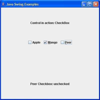 swing checkbox swing jcheckbox class