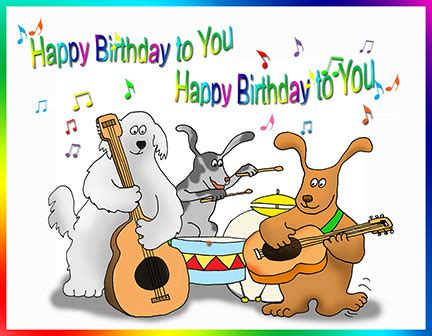 Happy Birthday Clip With Dogs Free by Happy Birthday Song Clipart 14
