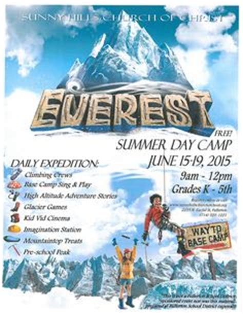 vbs flyer template vbs 2015 on mount everest rock wall and