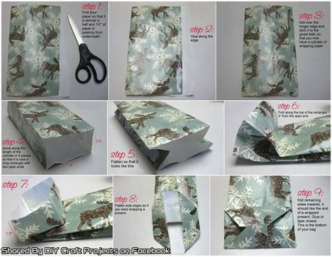 How To Make A Gift Paper Bag - gift bags out of wrapping paper diy craft projects