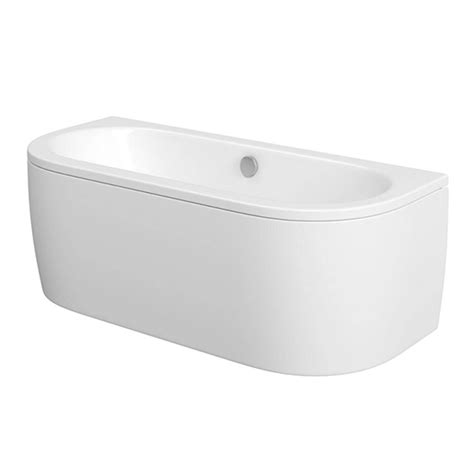 Voctoria Plumb by Cayman D Shaped Back To Wall Bath From Plumb