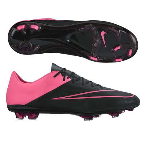 Boots Pink Black mercurial vapor x tech craft leather fg soccer cleats