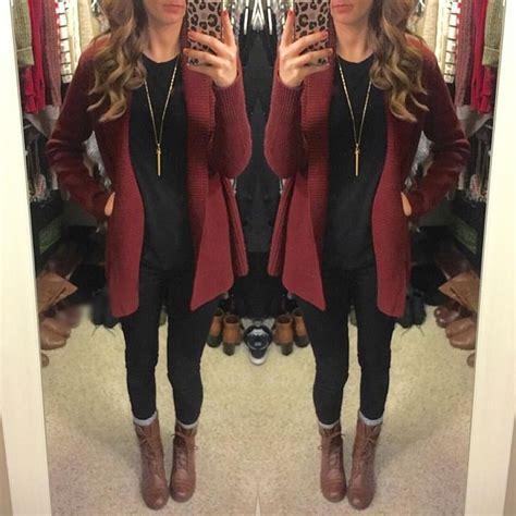 Cardigan Middle Line Black best 25 maroon cardigan ideas on burgundy