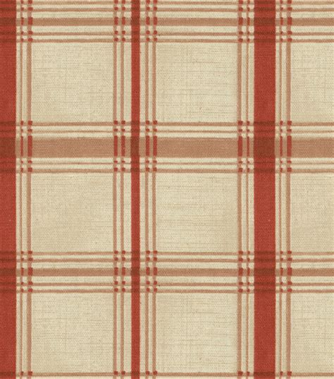 home decor print fabric waverly pantry plaid crimson jo