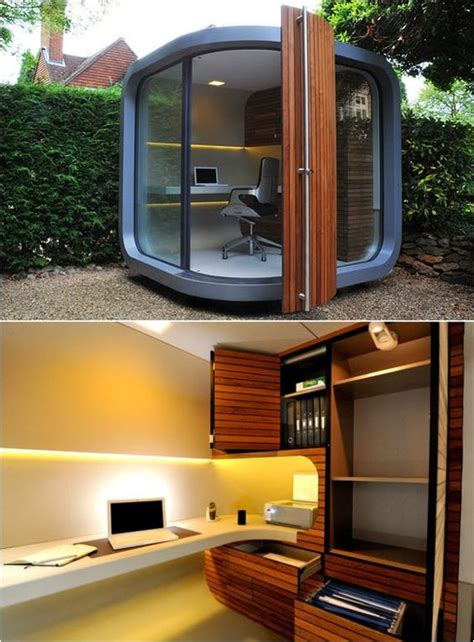 a cool outdoor personal office pod there s no place