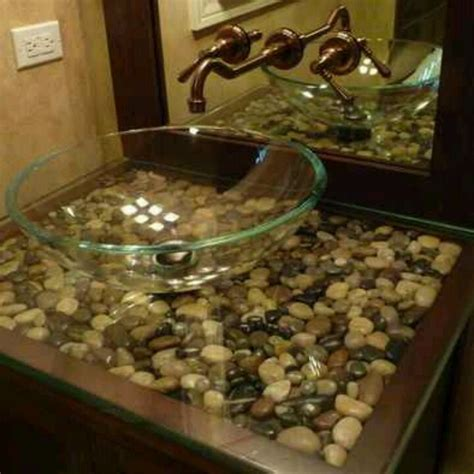 where to buy rocks for sink river rock vanity master bathroom river