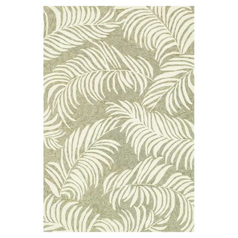 Outdoor Rug 6x9 Fern Coastal Leaf Outdoor Rug 7 6x9 6 Kathy Kuo Home