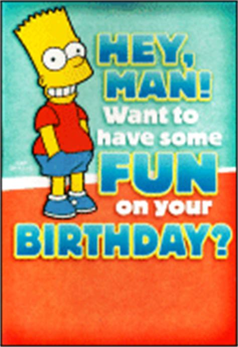 Simpsons Birthday Card The Simpsons Archive Greeting Cards
