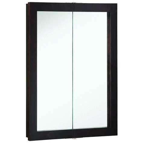 design house medicine cabinets design house ventura 24 in w x 30 in h x 6 in d framed surface mount bi view