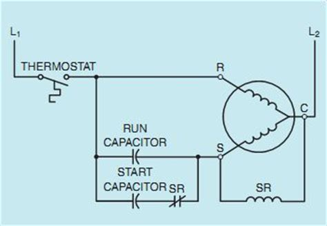 potential relay start capacitor wiring diagram 46 wiring