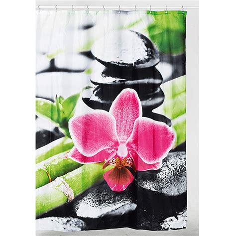 duschvorhang mit orchideen venus textil duschvorhang orchidee 180 x 200 cm 100