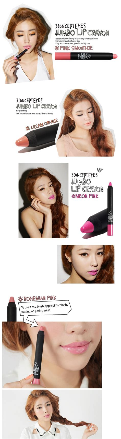 Images Jumbo Lip Crayon Lipstick B031 3ce 3 concept jumbo lip crayon lunatu cosmetics uk
