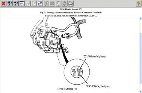 1999 honda accord alternator wiring diagram autocurate net