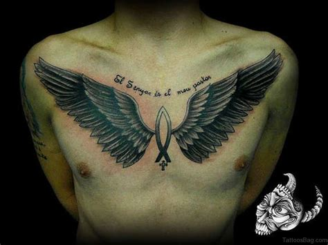 wings on chest tattoo 81 alluring wings on chest