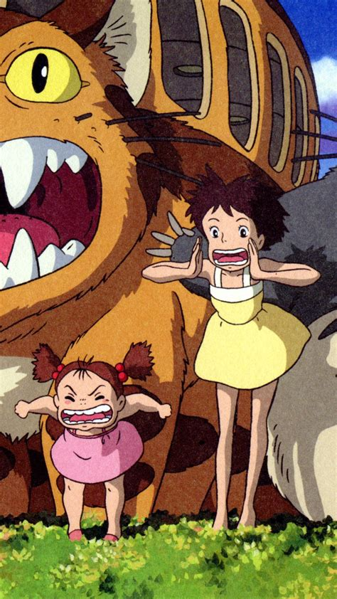 wallpaper  neighbor totoro japanese anime  uhd