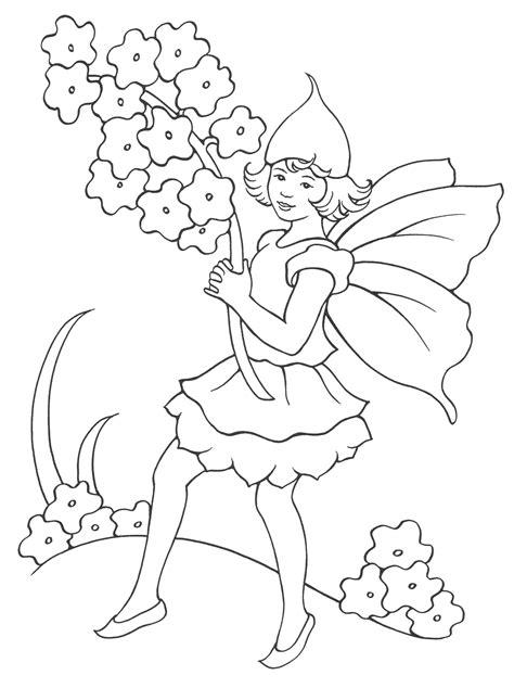 mazzi di fiori da colorare disegni da colorare ragazza elfo con un mazzo di fiori