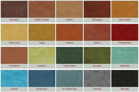 concrete colors polished concrete color chart medic