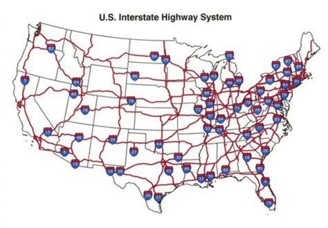 map us interstates roads interstate highway system map pdf