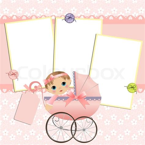 Baby Fullmoon Card Template by Template For Baby S Arrival Announcement Card Or