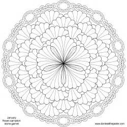 flower mandala coloring pages cooloring