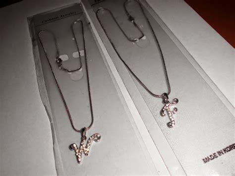 Kalung Titanium Anti Karat 45 kalung inisial huruf abjad lengkap a b c d dst