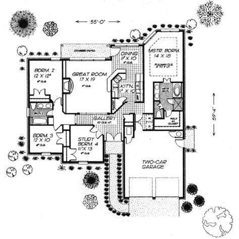 floor plans com european style house plan 4 beds 2 baths 1898 sq ft plan