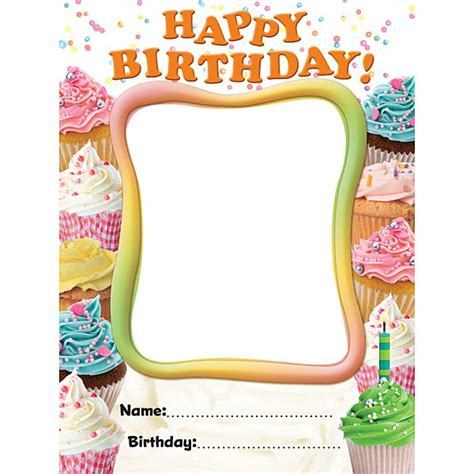 birthday bulletin board templates cupcake birthday bulletin board templates