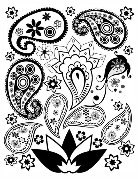 free paisley coloring pages free paisley coloring page