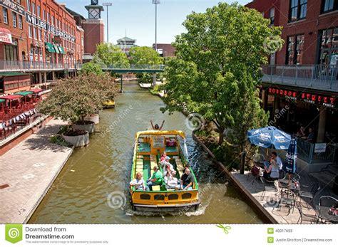 boat service oklahoma city oklahoma city bricktown cruises editorial stock photo