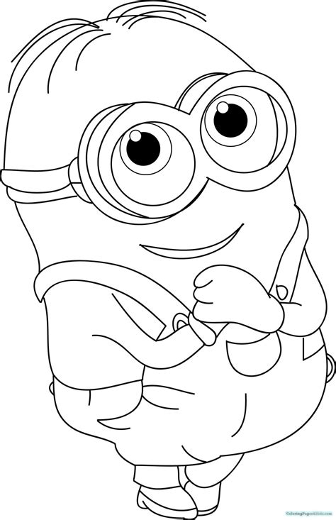 baby minion coloring page coloring pages of minions baby kevin coloring pages for kids