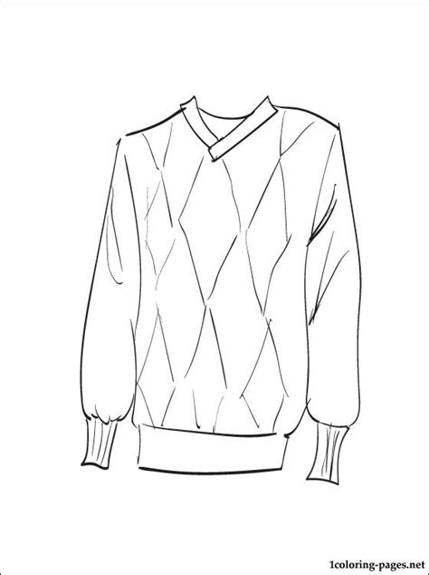 Sweater Coloring Page Coloring Pages Sweater Coloring Page