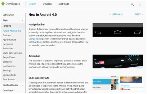 layout in android developer google completely overhauls android developers website
