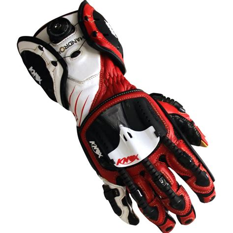 Motorradhandschuhe Knox by Knox Handroid Red Gloves 183 Motocard
