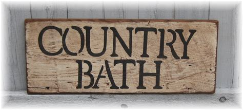 country bathroom signs 28 bathroom decor wood signs country country bath