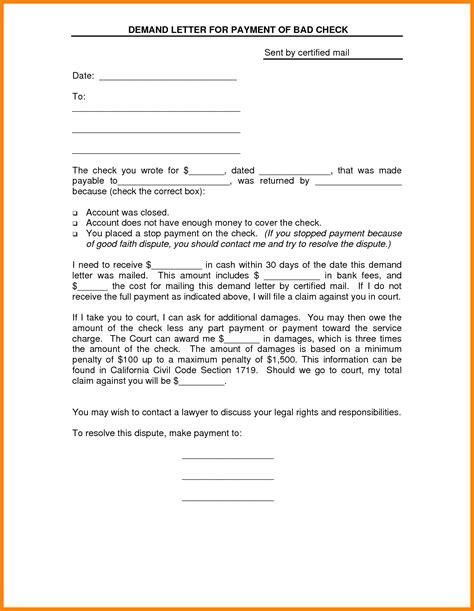 letter of demand for payment template demand letter for payment resumes
