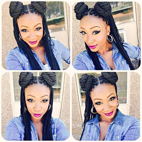 how to put differnt styles with braids ty zillions how to style box braids minnie mouse look my
