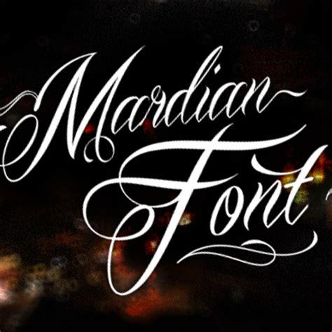 tattoo font mardian mardian font 1001 free fonts